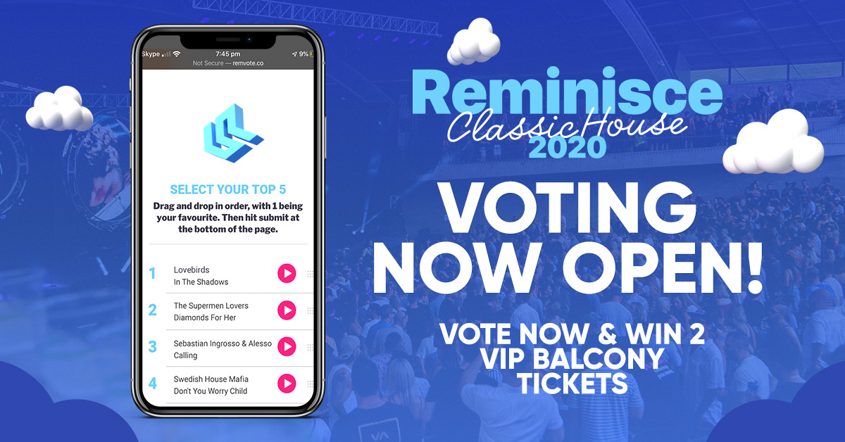 Reminisce 2020 Voting Is Open